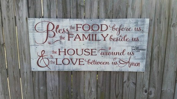 bless the food sign MyRepurposedLife.com