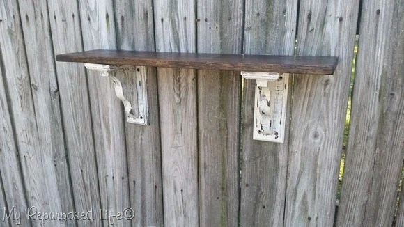 dry fit rustic shelves