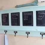 Chalkboard Coat Rack from a desk panel