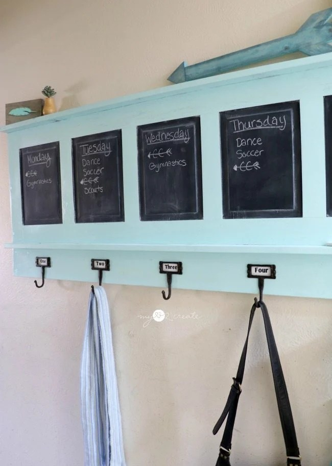 Chalkboard Coat Rack