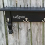 DIY Repurposed Bedpost Wall Shelf