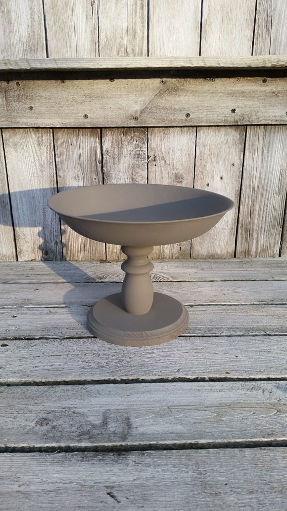 gray diy pedestal bowl