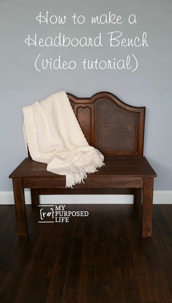 video tutorial how to make a headboard bench MyRepurposedLife.com