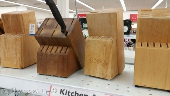 wooden knife blocks