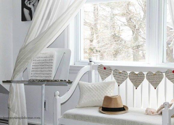 dreamy white bench