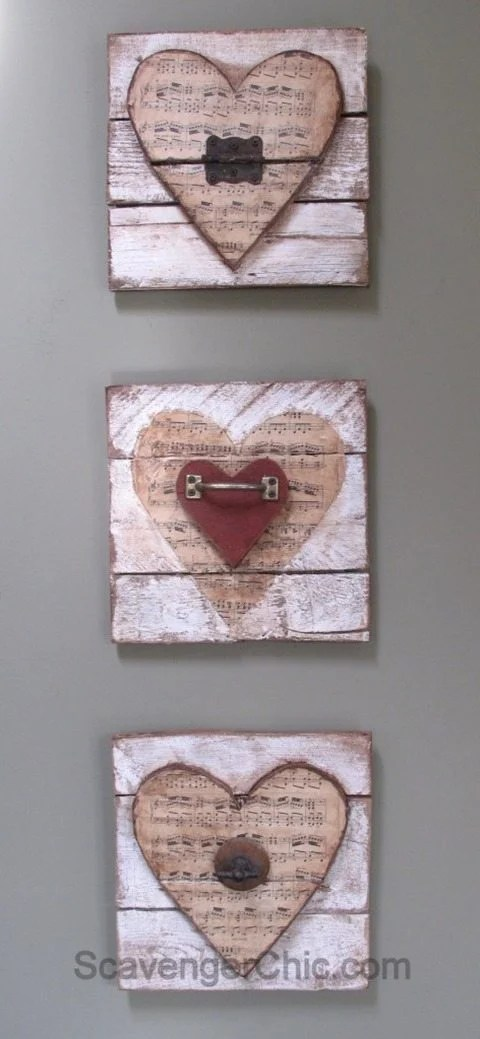 junk hearts for valentine decor