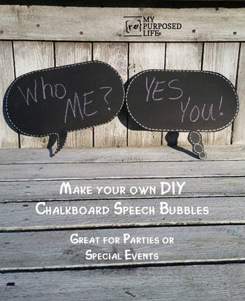 make your own diy chalkboard speech bubbles great for parties or special events MyRepurposedLife.com