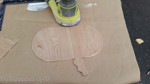 sand plywood thought bubble