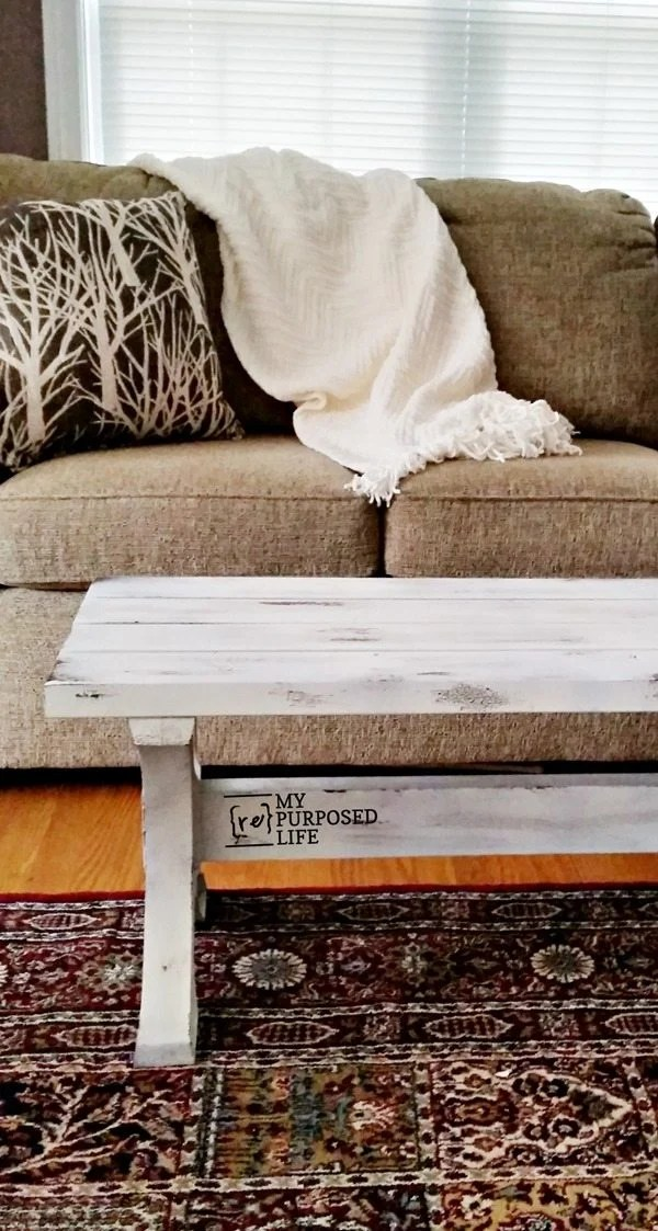2x4 bench coffee table easy tutorial MyRepurposedLife.com