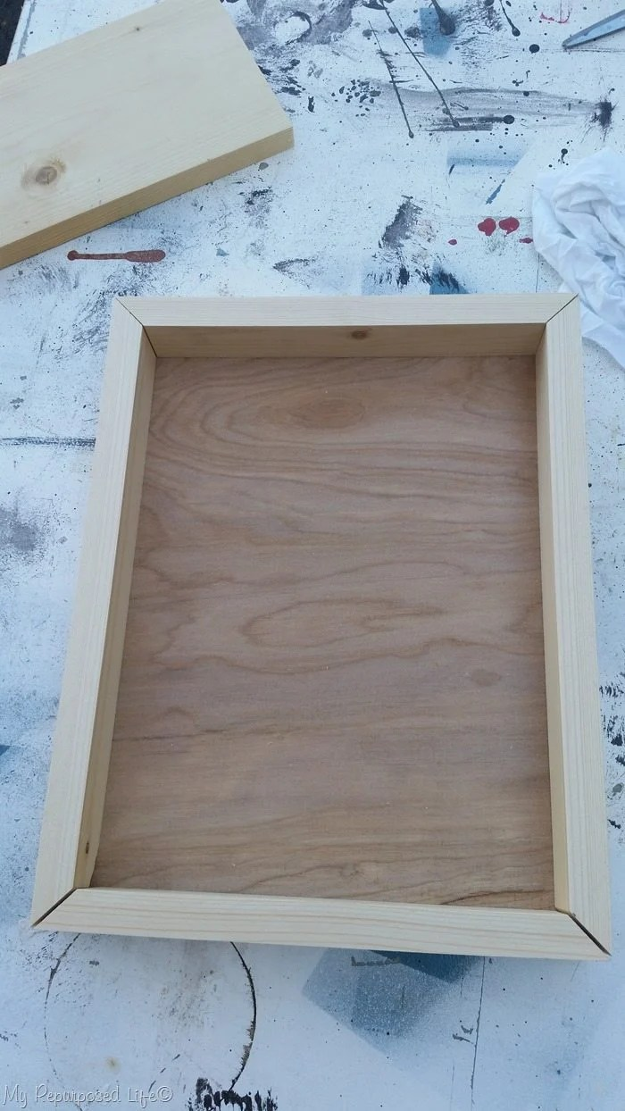 diy tray with plywood and grooves