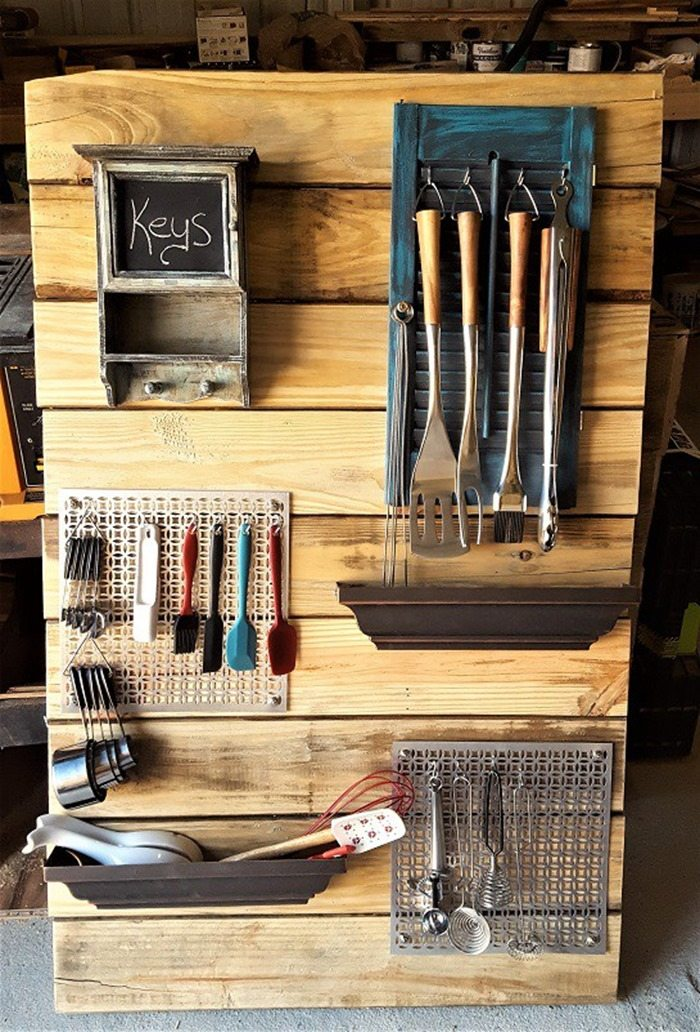 diy utensil rack