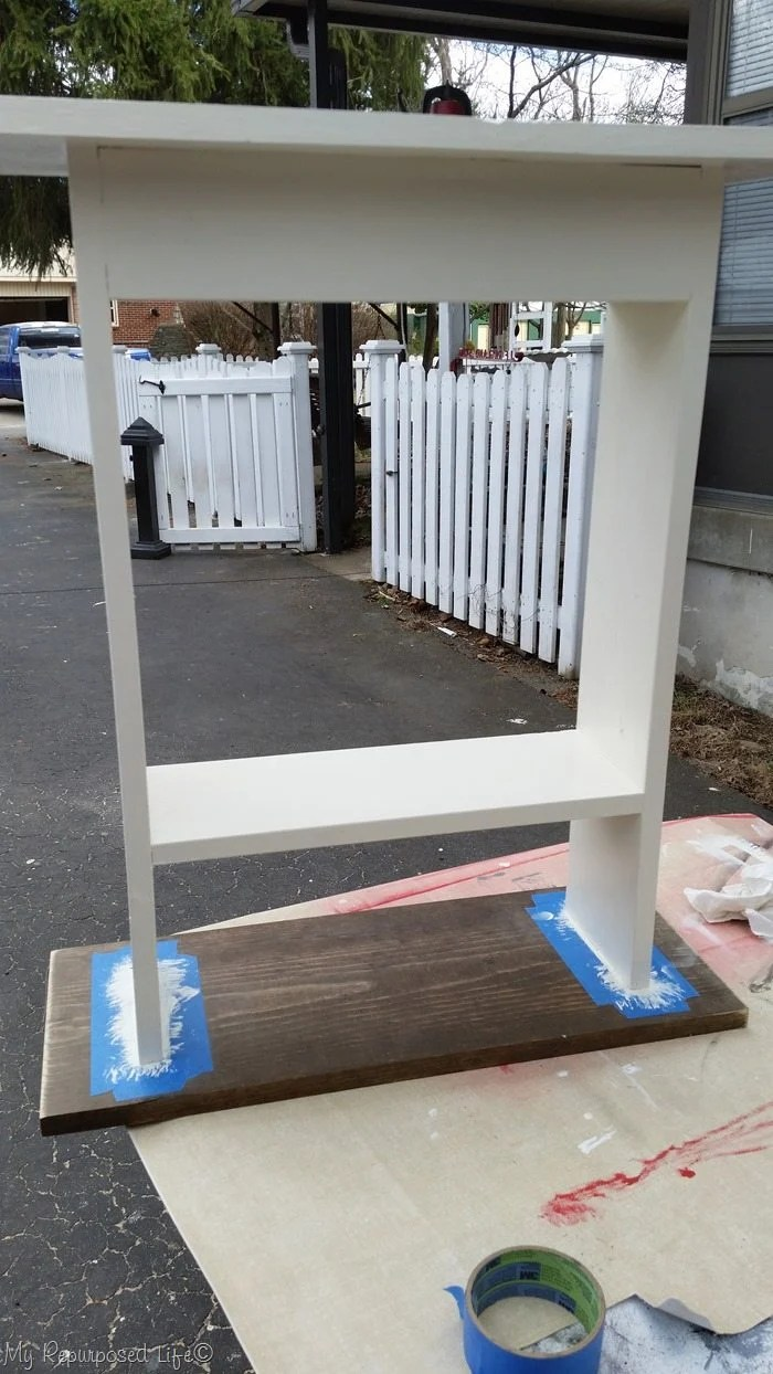 painting sofa side table