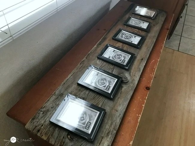 reclaimed wood with frames dry fit