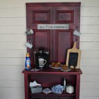 Coffee Station Cabinet | repurposed door and dresser - My ...