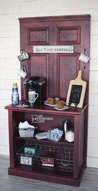 Coffee Station Cabinet | repurposed door & dresser - My ...