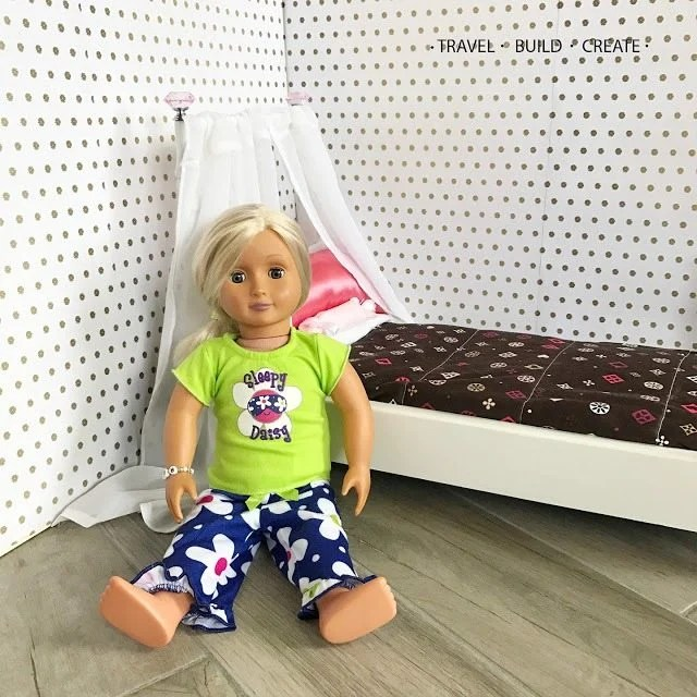 How to make a doll bed from a chair
