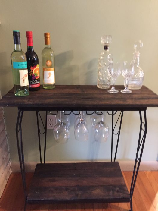 fish tank stand unique rustic wine bar