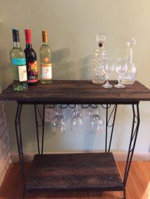 Fish Tank Stand Rustic Wine Bar - Repurposed Life