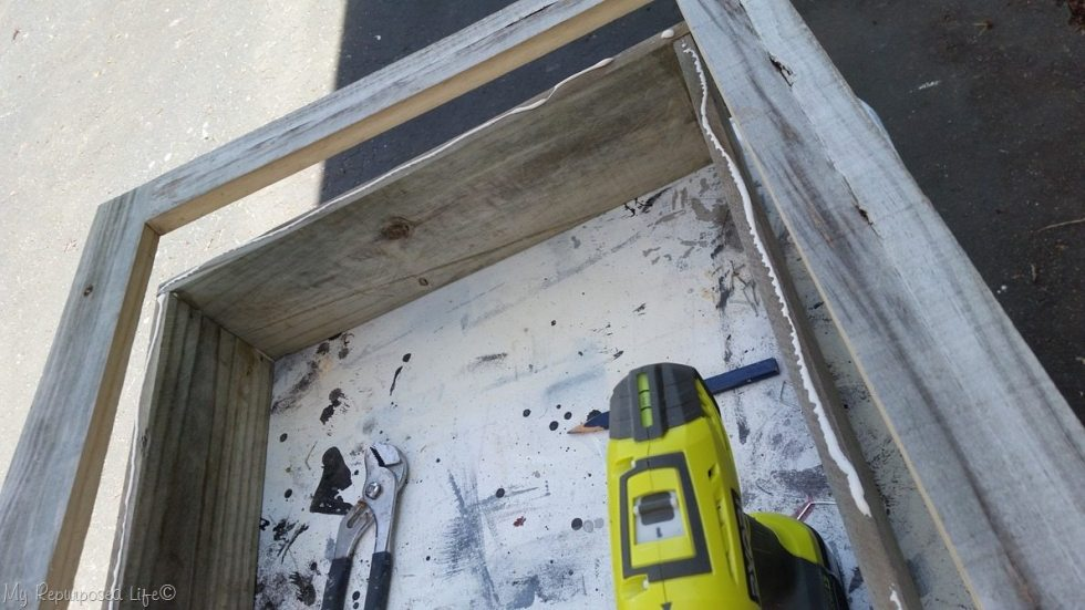 attach front facing to cabinet box