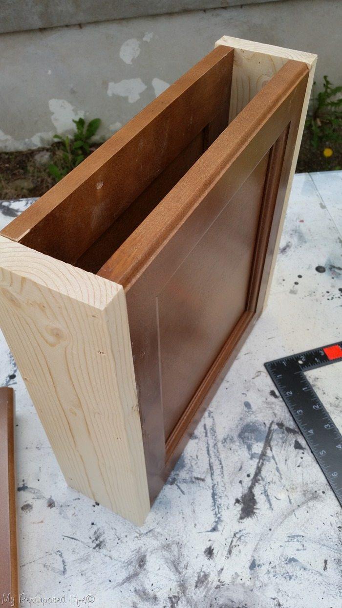 cabinet door boxed bench legs