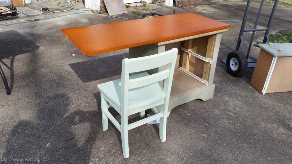 design stage nightstand desk