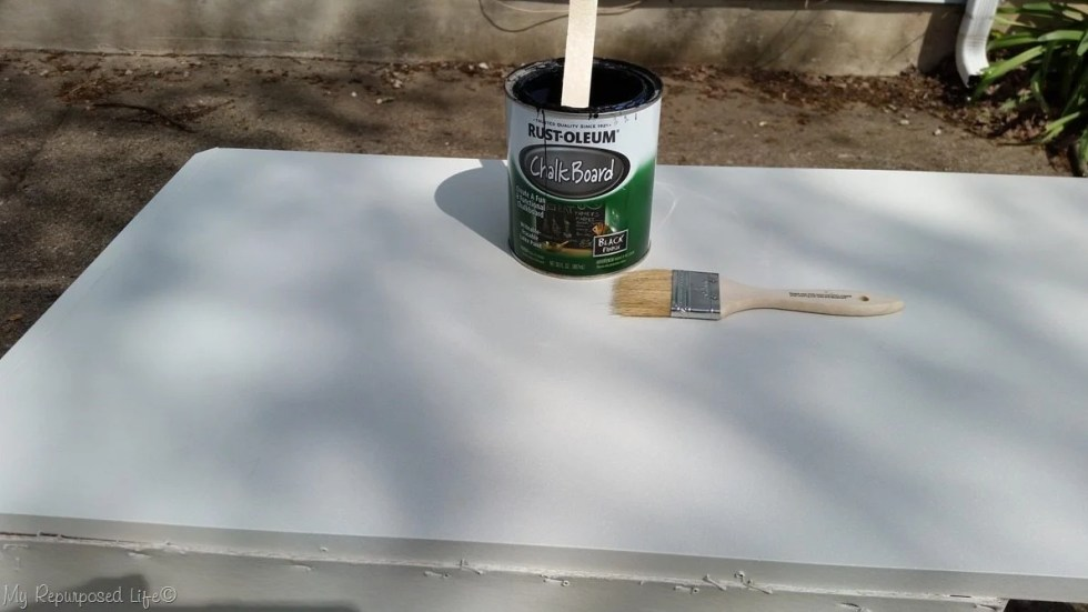 paint top with chalkboard paint