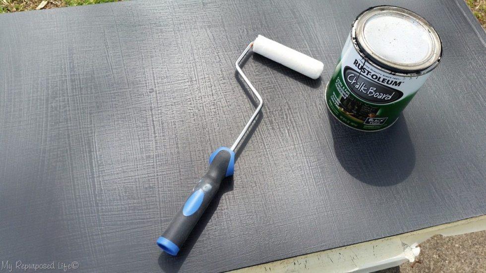 roll chalkboard paint