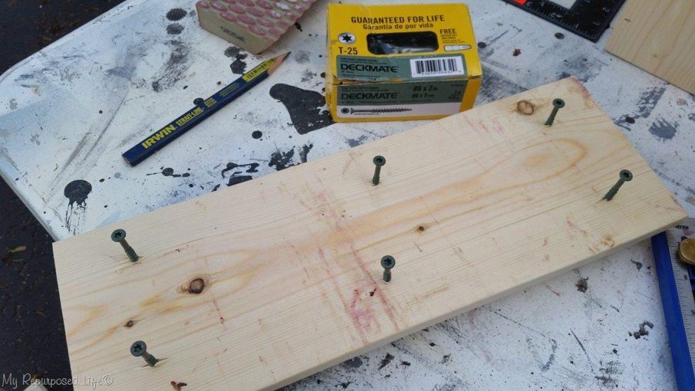 start screws from the bottom