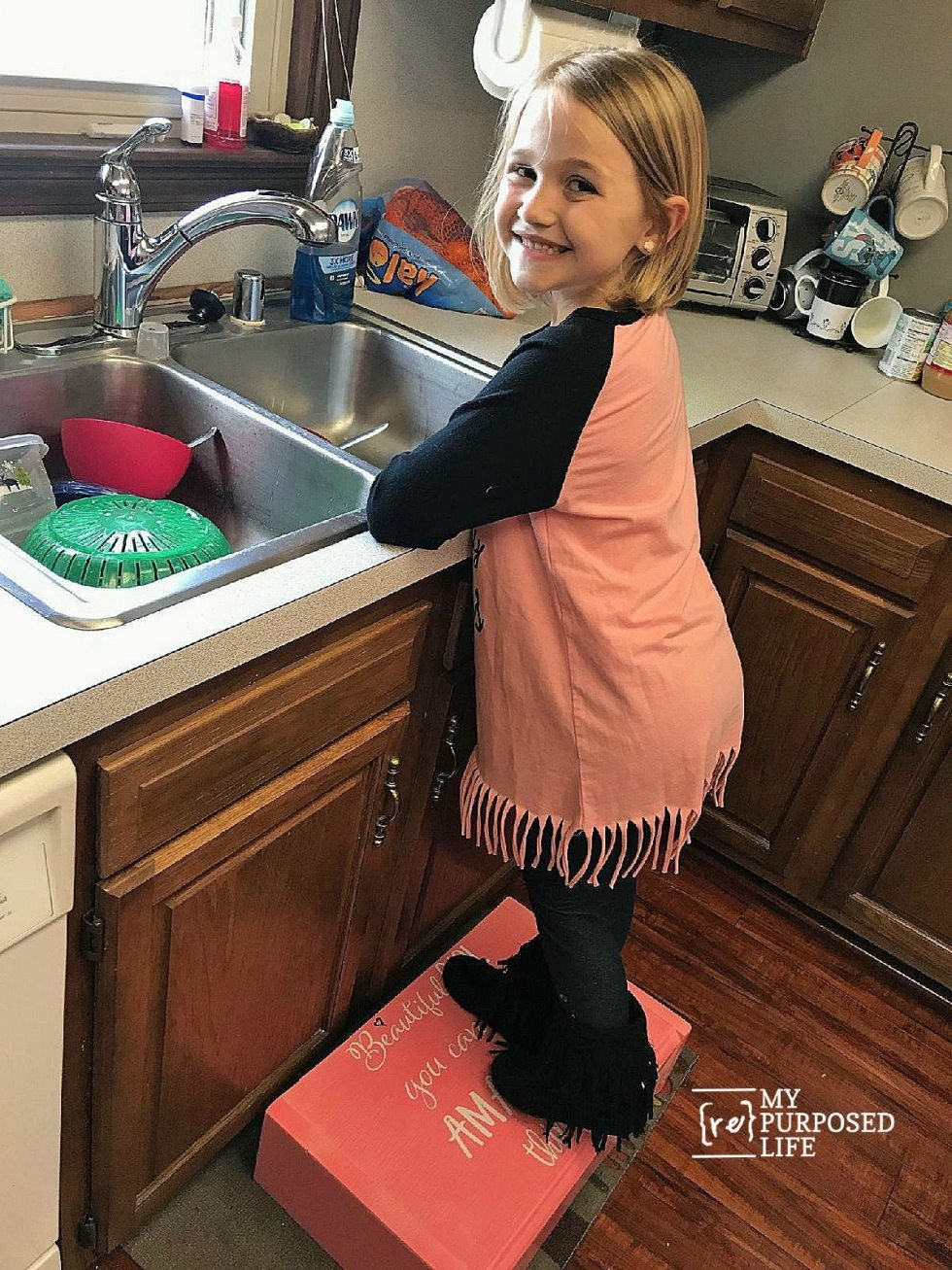 Marlee beautiful girl you can do amazing things step stool MyRepurposedLife.com