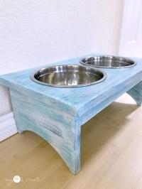 DIY Dog Bowl Holder - My Repurposed Life
