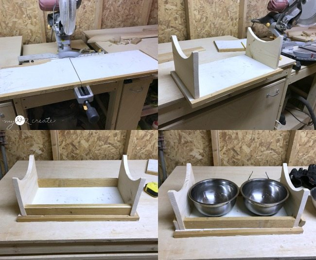 dryfitting dog bowl holder