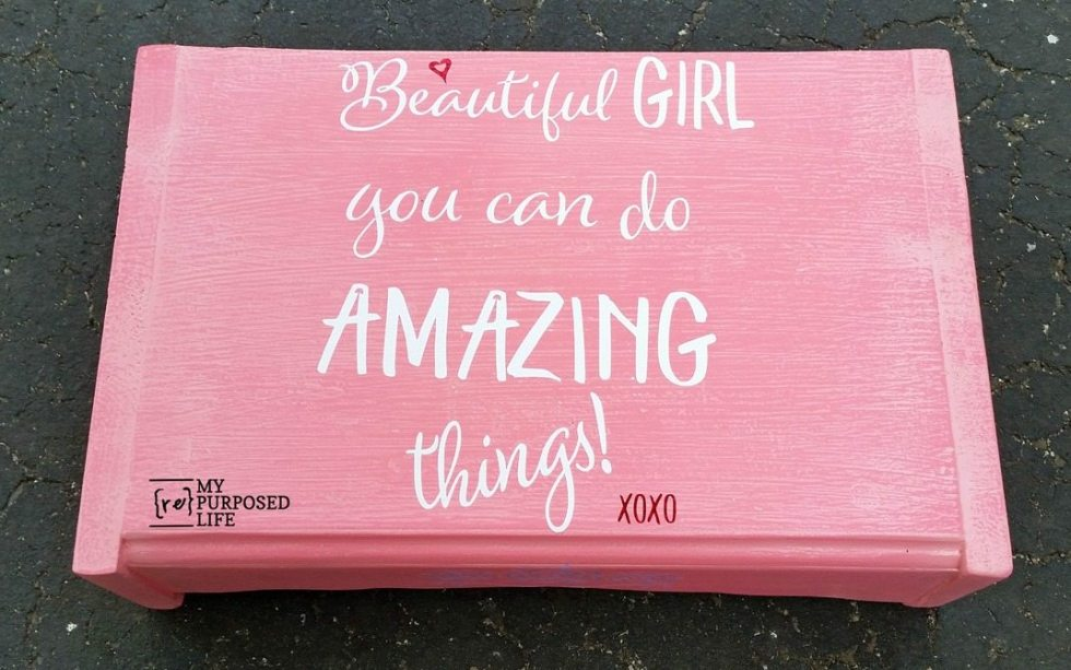 pink step stool for girls