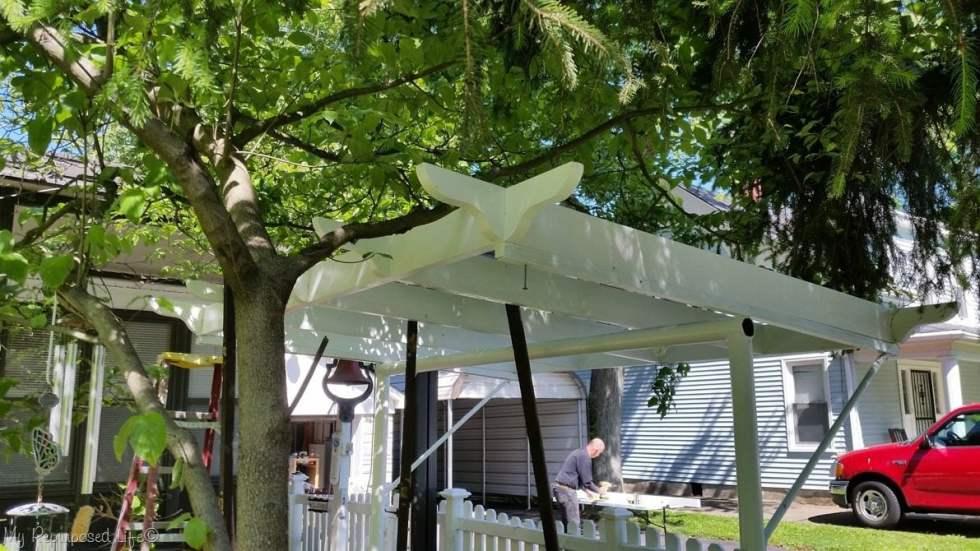 new pergola for porch swing