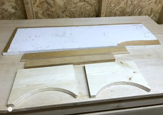 scrap wood to build dog bowl holder