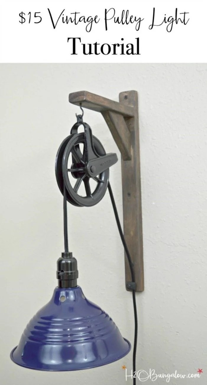 vintage style pulley light