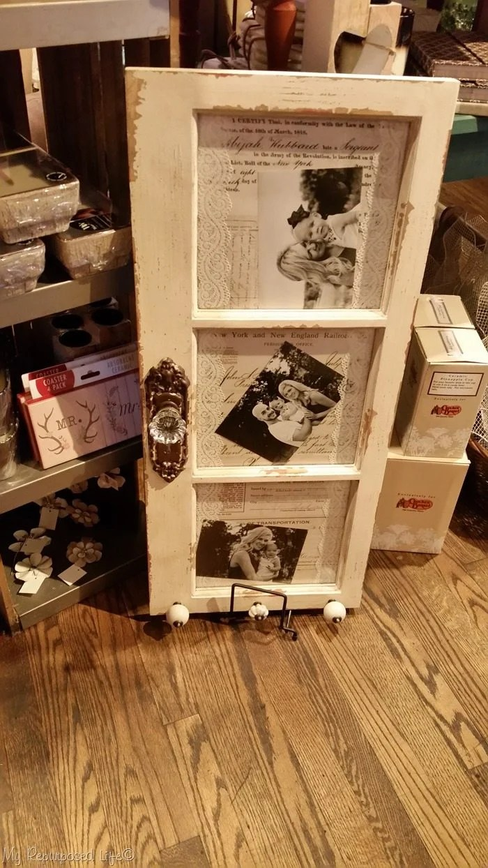 wedding photo display window cracker barrel