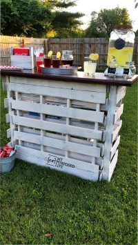 Portable Folding DIY Pallet Bar - great for weddings ...