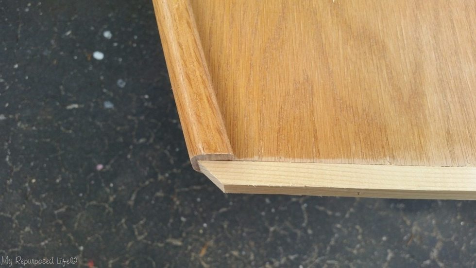 add trim to headboard side