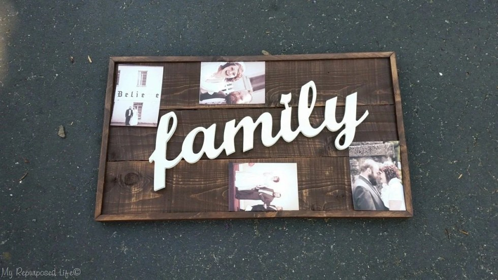 rustic family wooden sign
