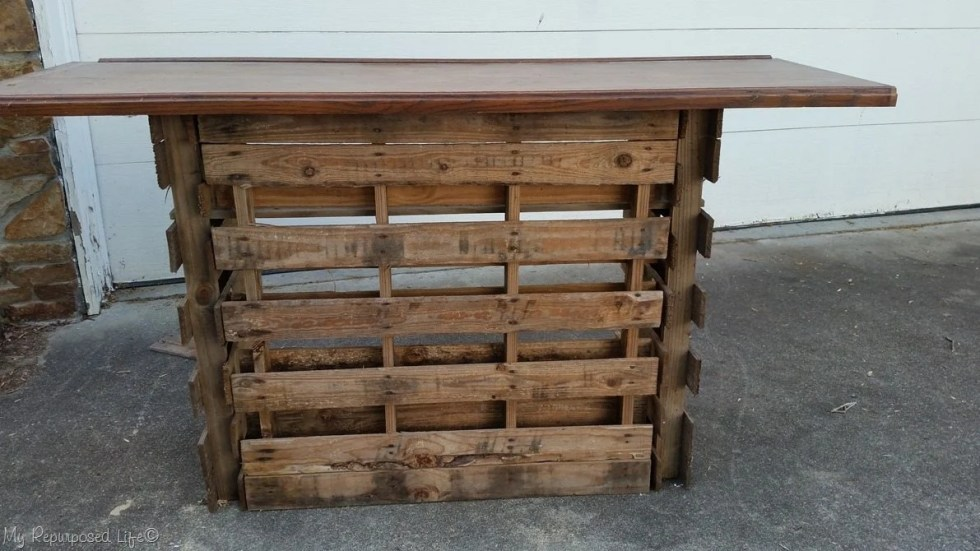 Portable Folding Diy Pallet Bar Great For Weddings Tailgating And