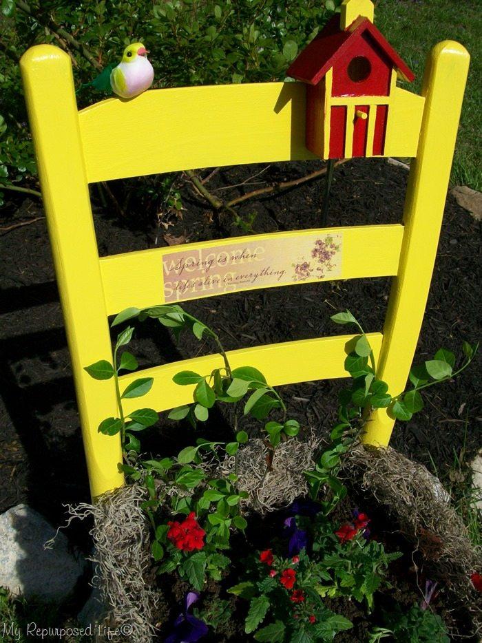 yellow garden chair
