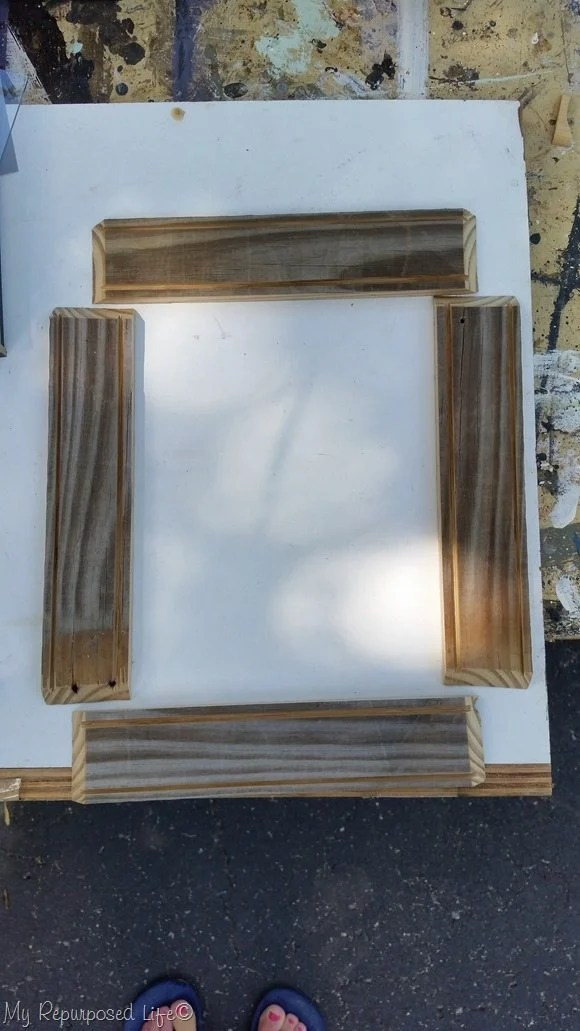 diy rustic shadow box frame for vacation photo