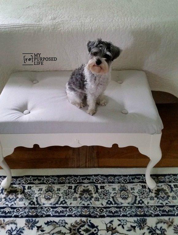 end of bed repurposed coffee table bench MyRepurposedLife.com