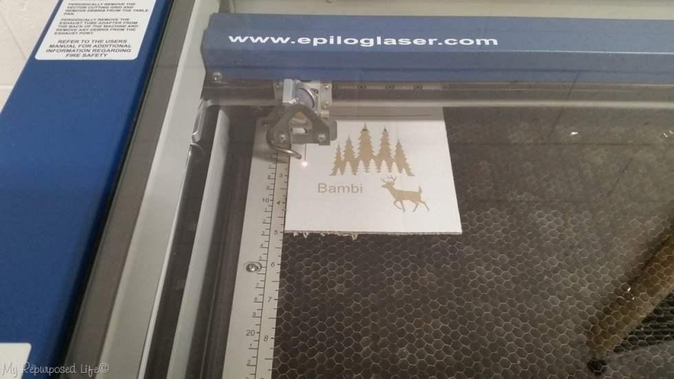epilog laser cuts cardboard