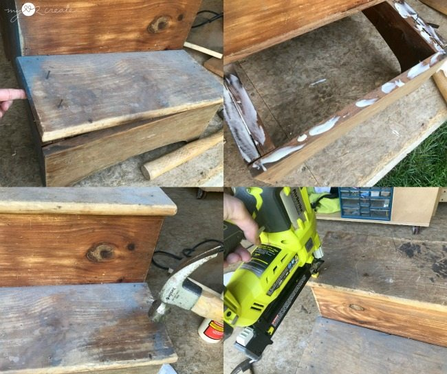 fixing the step stool steps