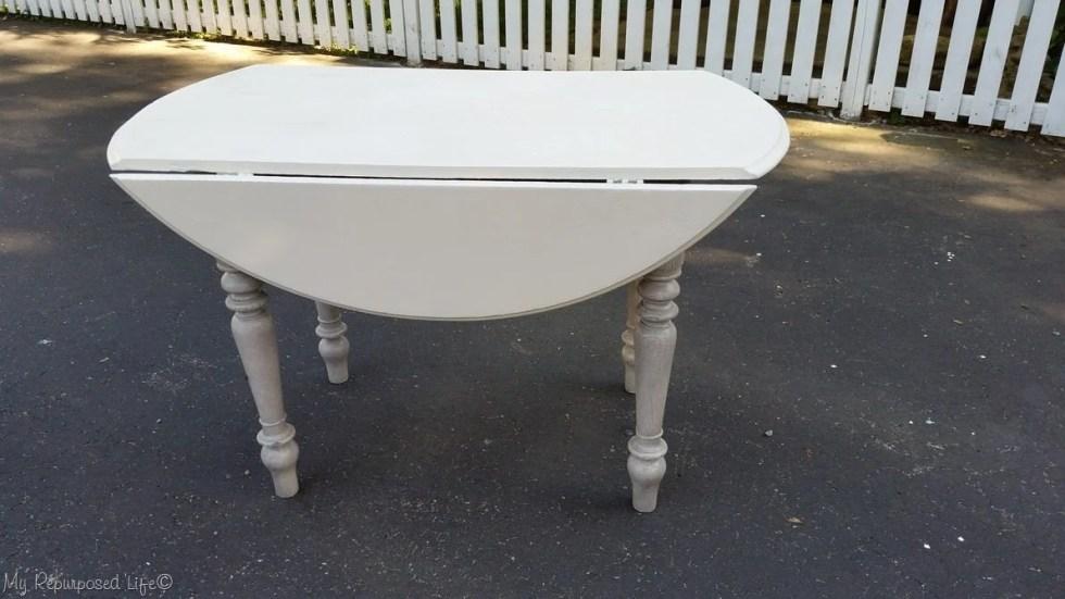glazed oak craft table