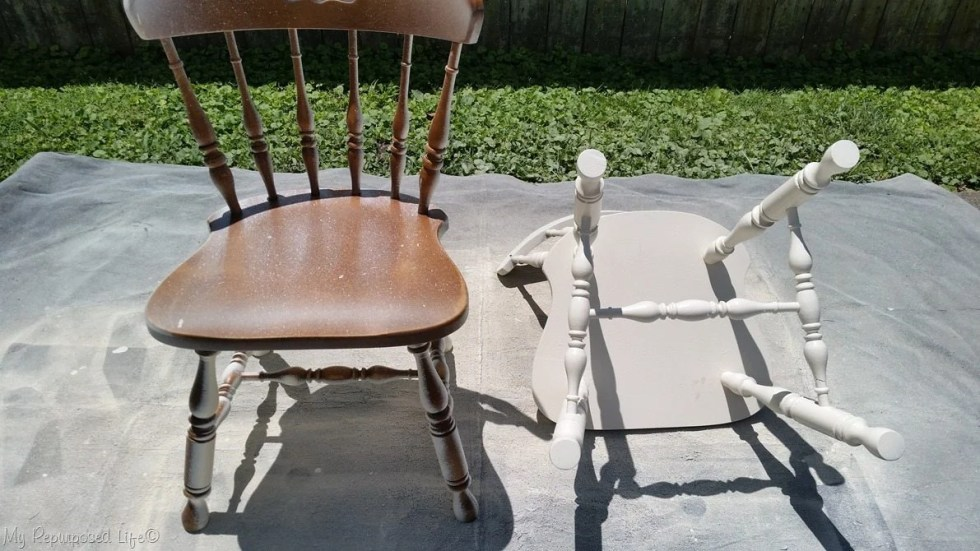 painting chairs with finish max extra