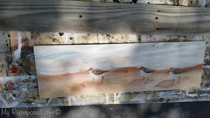 reclaimed wood artwork