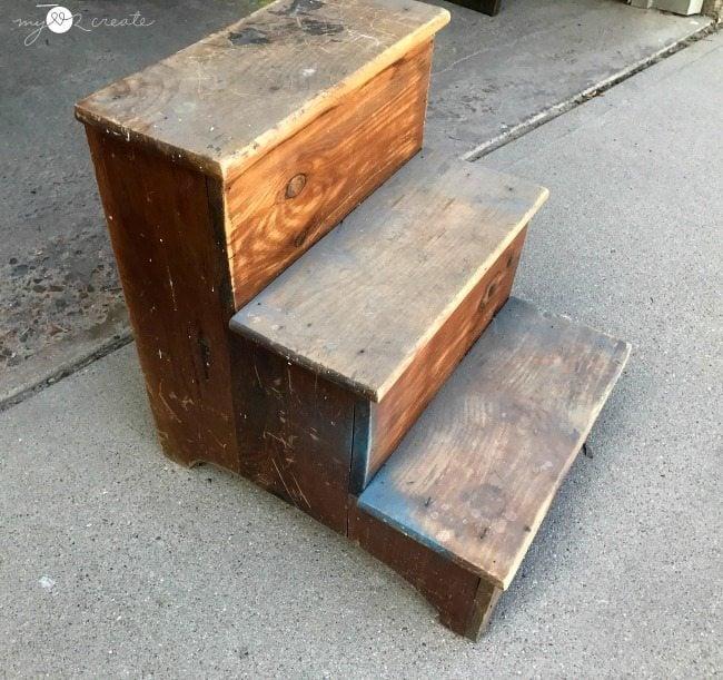 step stool before