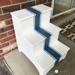 Grain Stripe Step Stool Makeover